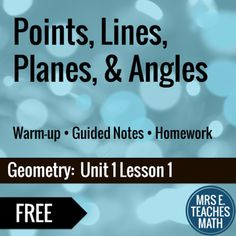 Points, Lines, Planes, and Angles Lesson