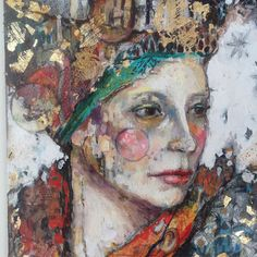 Gertrude painting Mixed Media painting by Juliette Belmont created in This artist used acrylic and oils to create her painting on a 12 X 16 canvas. Abstract Portrait, Portrait Art, Abstract Art, Mixed Media Artwork, Mixed Media Painting, Figure Painting, Painting & Drawing, Grafik Art, Art Vintage