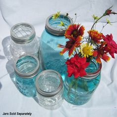 DIY Flower Centerpieces 12 Upcycled FLOWER FROG Ball Jars Lids