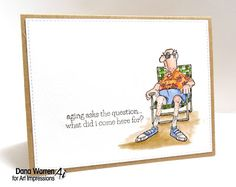 Art Impressions Rubber Stamps: sentiment from Dare to Be Fabulous used with NORM.  Ai Golden Oldies ... handmade masculine card.
