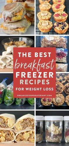 The Best Breakfast Freezer Recipes for Weight Loss | Breakfast Meal Prep - these breakfast freezer meals are the easiest (and healthiest) way to assure you have nutritious food to fuel your body first thing in the morning. As a bonus, having a freezer stocked full of frozen breakfast burritos, oatmeal, and smoothies will significantly reduce stress and save you money! Organize Yourself Skinny | Meal Prep for Beginner | Healthy Breakfast Ideas #breakfast #mealprep #helathyeating Healthy Family Meals, Healthy Breakfast Recipes, Nutritious Meals, Healthy Eating Recipes, Healthy Meal Prep, Frozen Breakfast, Breakfast On The Go, Breakfast Ideas, Frozen Smoothie Packs