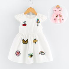 >> Click to Buy << 2017 new summer Girls Kid Cherry Balloon Butterfly Embroidered Dress comfortable cute baby Clothes Children Clothing #Affiliate