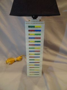 Lego Lamp  Tall White & Multicolored  Glow In The by LegoLamps, $119.99