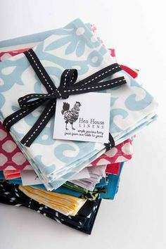 The perfect gift for the perfect hostess (and even those who pretend they are). | Cocktail Napkins by Hen House #henhouselinens