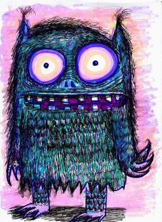 Mystery Planet Hairy Beast II by Dain Fagerholm