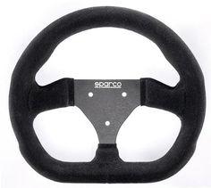 Amazon.com  Sparco 015P260FSN Black Suede Steering Wheel  Automotive fe2245aae