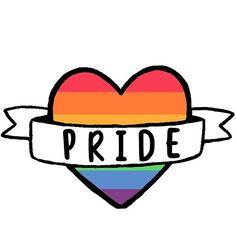 'Gay Pride Heart Banner Sticker Rainbow Design Illustration Queer Love ' by ruswatkins Gay Pride, Pride Tattoo, Heart Banner, Lgbt Flag, Gay Aesthetic, Rainbow Pride, Aesthetic Stickers, Bunt, Scrapbook