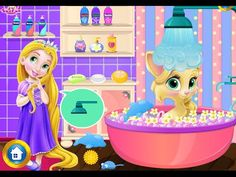Baby Rapunzel Kitty Fun - Tangled Rapunzel Games For Kids