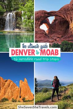 One of the best road trips in the western USA: Denver, Colorado to Moab, Utah! You get a mix of the majestic Rocky Mountains in Colorado and red desert vibes of Moab, Utah. This guide will help you plan everything you need to know about a road trip from Denver to Moab, including best stops to make, the *only* route worthwile, best time of year to go and what to pack.   Denver Colorado   Denver Road Trips   Moab Utah   USA Road Trips   US Vacation Ideas