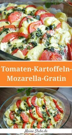 Tomato-Potato-Mozzarella-Gratin - Meine Stube Skip directly to the recipe . - Tomato-Potato-Mozzarella-Gratin – My room Skip directly to the recipe This week my husband was gi - # Potato Recipes, Veggie Recipes, Fall Recipes, Vegetarian Recipes, Chicken Recipes, Dinner Recipes, Cooking Recipes, Healthy Recipes, Tomate Mozzarella