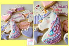 Unicorn cookies by Dulce Tona