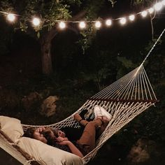 I would die if a hammock was set up with lights hanging above it and he planed for us to just snug and talk all night