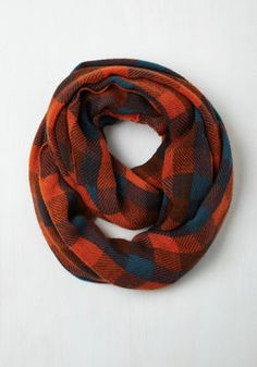 Train Station Anticipation Circle Scarf in Paprika