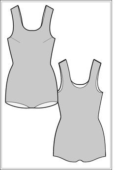 Free Sewing Pattern: The Ellsa swimsuit sewing pattern is a lovely example of vintage swimwear – with it's long-line torso and low rise hip. It's a great starting point for a range of vintage styles.
