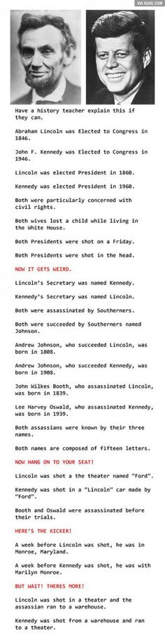 Some Really Strange Mind-Blowing Coincidences.