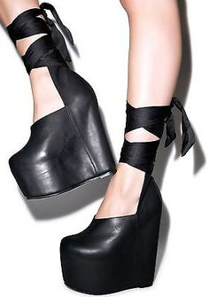 UNIF Leland Platform Shoes Sz 7 Dolls Kill Nasty Gal SOLD OUT Free Shipping!