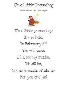 Cute song for Groundhog's Day!