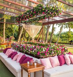 Gone are the days where weddings and wedding receptions mean securing the reception hall at one's local church that is around the corner. Outdoor Spaces, Outdoor Living, Outdoor Wedding Decorations, Outdoor Decor, Porch Swing, Event Decor, Event Design, Wedding Events, Weddings