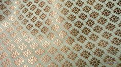 Beige and Gold Brocade Silk fabric from India