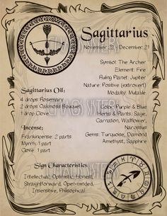 Astrology Discover Sagittarius Zodiac Sign Book of Shadow Printable PDF Wicca Astrology Horoscope Correspondence Grimoire Page Magic Journal Witch Book Sagittarius Zodiac Sign Book of Shadow Printable PDF Wicca Zodiac Signs Sagittarius, Zodiac Star Signs, Astrology Zodiac, Astrology Houses, Sagittarius Women, List Of Zodiac Signs, Sagittarius Symbol, Witchcraft Spell Books, Wiccan Spell Book