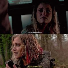 """#The100 4x03 4x13 - """"I still have hope."""" - #ClarkeGriffin"""
