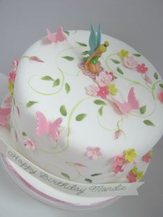 Tinkerbell Cake!!! - This is more along what I was thinking.... except no painting!!