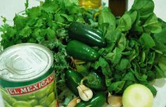 MXF Super Salsa Verde Why do people torment themselves trying to mix kale and spinach in their breakfast smoothie when they could do something way more delicious to amaze their taste buds as well as give all the alkalizing benefits of kale, spinach and coriander? Ingredients: 1 x  760g can of Whole Tomatillos @MXflavour,  ½ bunch Kale,500g Baby Spinach 1 Bch Coriander 3 – 6 Chillies Jalapeños  4 Cloves of Garlic ½  brown/white Onion  2 TBSP Olive oil 1 TSP salt 1 TBSP ACV 1/4 C Water