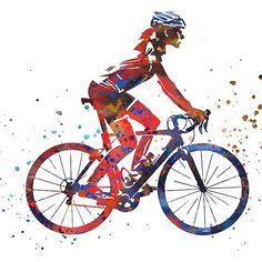 'Road cycling, woman's road cycling, woman cyclist' by Rosaliartbook Cycling Tattoo, Cycling Art, Road Cycling, Cycling Bikes, Road Bike, Cycling Quotes, Cycling Jerseys, Sport Motivation, Cycling Motivation