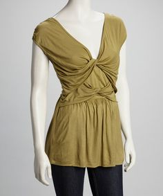 Take a look at this Olive Twist Top by Avatar Imports on #zulily today!