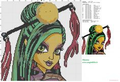 Jinafire Long (Monster High) cross stitch pattern (click to view)