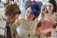 Dan Stevens and Michelle Dockery at Derby Day.