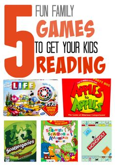 5 Board Games That Secretly Promote Reading Board games + reading = a BIG win!