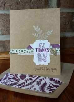 Gorgeous For All Things set from Stampin' Up by (papermadeprettier - Kay Cogbill). Check it out on the blog!