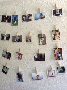 Twine, clothes pins and photos Twine, Photo Wall, Frame, Photos, Clothes, Home Decor, Picture Frame, Outfits, Photograph