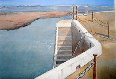 Castletown Harbour (Isle of Man) Archibald Knox, Peter Robinson, Man Art, Manx, Isle Of Man, Amazing Art, Watercolor Paintings, Artists, Sea