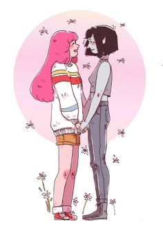 adventure time | princess bubblegum x marceline the vampire queen | bubbline