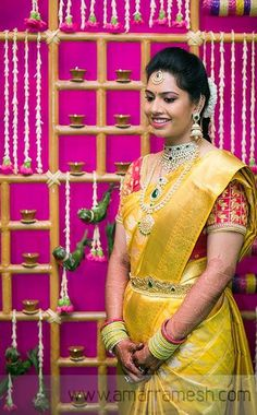 Bridal saree and diamond jwelery