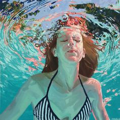 """Samantha French, am, 30x30"""", Oil on canvas, 2014: SOLD"""