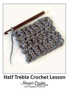 Crochet Next Steps: Half Treble Crochet Bobble Stitch, Treble Crochet Stitch, Crochet Cross, Basic Crochet Stitches, Crochet Basics, Crochet Yarn, Crochet Box, Crochet Geek, Blanket Crochet