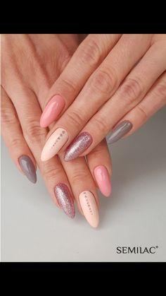 Nageldesign - Nail Art - Nagellack - Nail Polish - Nailart - Nails Like these! Clean Nails, Fun Nails, Gorgeous Nails, Pretty Nails, Crome Nails, Nagel Stamping, Nagellack Design, Nail Polish, Accent Nails