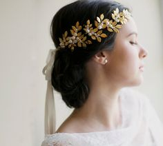 Grecian crown bridal hair wedding crown by EricaElizabethDesign