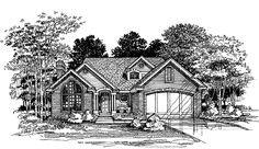 Eplans New American House Plan - Three Bedroom New American - 2002 Square Feet and 3 Bedrooms from Eplans - House Plan Code HWEPL58242