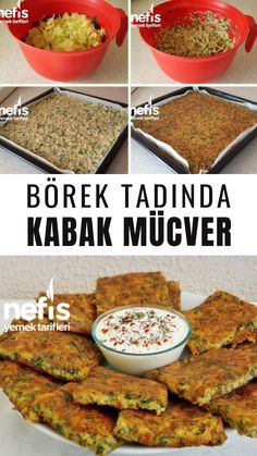 Finger-eating Oven-Pumpkin Taste (Taste of Pastry) - Yummy-Parmak Yediren Fırında Kabak Mücveri (Börek Tadında) – Nefis Yemek Tarifler… Finger Feeding Baked Pumpkin Taste (Pastry Taste) – Yummy Recipes the oven recipes recipes easy - Roast Meat Recipe, Stew Meat Recipes, Cooking Recipes, Mince Recipes, Lunch Snacks, Lunch Meals, Yummy Recipes, Yummy Food, Healthy Recipes