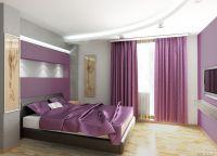 Интерьер спальни в лиловых тонах 2