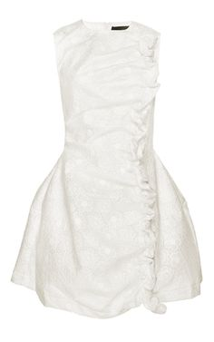 Bonded Lace Dress With Floral Embroidery by SIMONE ROCHA Now Available on Moda Operandi