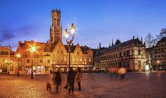 Burg Square At Night - Bruges Print by Barry O Carroll Bruges, Belgium, Barcelona Cathedral, Fine Art America, Night, Prints, Photography, Fotografie, Witches