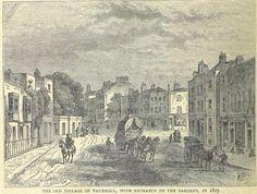 Vauxhall village c1825