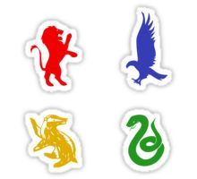 Hogwarts House Animal Sticker Set (Colorful) Sticker