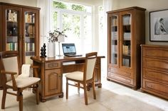19 Trendy home office furniture arrangement libraries Small Office Furniture, Library Furniture, Modern Furniture Stores, Classic Furniture, Furniture Sets, Furniture Decor, Bedroom Furniture, Home Office Computer Desk, Home Office Chairs