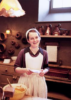 Daisy,  asst cook with Mrs Patmore   ..rh